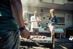 Partie de barbecue Images libres de droits