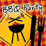 Partie de barbecue, invitation Images libres de droits