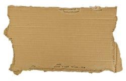 partie de carton déchirée Photos libres de droits