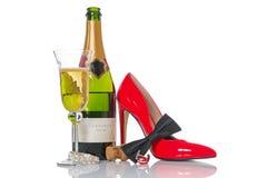 Partie de Champagne image stock