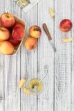 Partie de compote de pommes faite fraîche foyer sélectif Images libres de droits