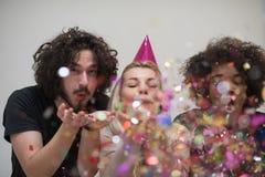 Partie de confettis Photographie stock