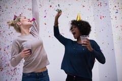 Partie de confettis Image libre de droits