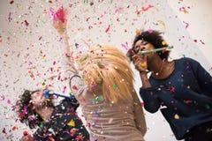 Partie de confettis Photo stock