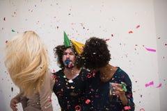Partie de confettis Photos stock