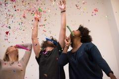 Partie de confettis Images libres de droits