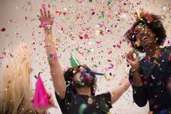 Partie de confettis Photo libre de droits