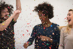 Partie de confettis Photos libres de droits