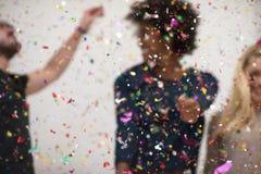 Partie de confettis Photographie stock libre de droits