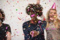 Partie de confettis Image stock