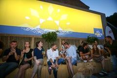 Partie de Corona Sunsets Session à Zagreb, Croatie images libres de droits