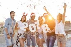 Partie de dessus de toit de nouvelle année Image stock