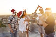 Partie de dessus de toit pendant la nouvelle année Images stock