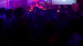 Partie de disco de nuit 01 banque de vidéos
