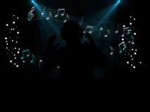 Partie de disco du DJ la nuit Images libres de droits