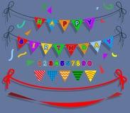 Partie de drapeau de joyeux anniversaire Images libres de droits