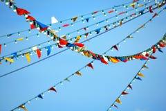 Partie de drapeaux et de lampes d'étamine Images libres de droits