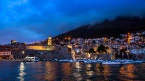 Partie de Dubrovnik de ville de laps de temps vieille banque de vidéos