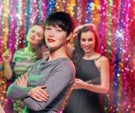 Partie de filles dans la boîte de nuit Photo libre de droits