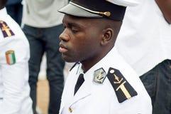 Partie de fin d'année pour les étudiants marins en Côte d'Ivoire images libres de droits