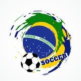 Partie de football abstraite illustration de vecteur
