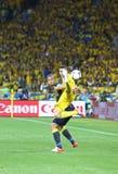 Partie de football 2012 d'EURO de l'UEFA Ukraine contre la Suède Image stock