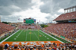 Partie de football d'université de longhorns du Texas Photo stock