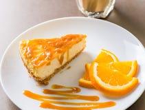 Partie de gâteau au fromage Image stock