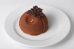 Partie de gâteau de chocolat Photographie stock