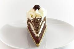 Partie de gâteau de forêt noire Photographie stock libre de droits