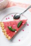Partie de gâteau de fraise Photo stock