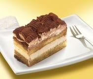 Partie de gâteau de tiramisu Photographie stock