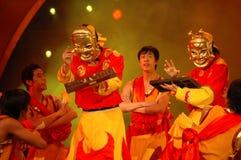 Partie de gala de festival de printemps de Nuo dance-2006 Jiangxi photo stock