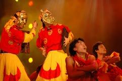 Partie de gala de festival de printemps de Nuo dance-2006 Jiangxi images stock