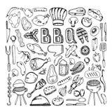 Partie de gril de barbecue illustration libre de droits