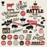 Partie de gril de BBQ de vintage Images stock