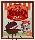 Partie de gril de BBQ de vintage Photos libres de droits