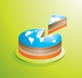 Partie de gâteau Image libre de droits
