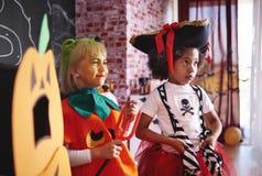 Partie de Halloween pour des enfants Photographie stock libre de droits