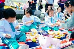 Partie de jour du ` s d'enfants pique-nique de jardin Photo stock
