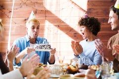 Partie de joyeux anniversaire Photos stock