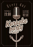 Partie de karaoke Photographie stock