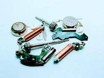 Partie de montre-bracelet d'isolement sur le fond blanc image stock