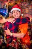 Partie de Noël et de nouvelle année avec des amis Image stock