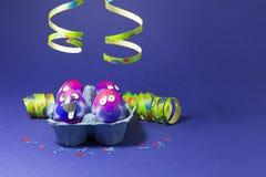 Partie de Pâques avec les oeufs fous Photographie stock