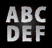 Partie de papier déchirée déchirée d'alphabet Images libres de droits