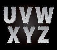 Partie de papier déchirée déchirée d'alphabet Image libre de droits