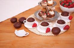Partie de petit gâteau Image libre de droits