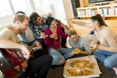 Partie de pizza Photos libres de droits