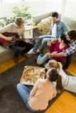 Partie de pizza Photographie stock libre de droits